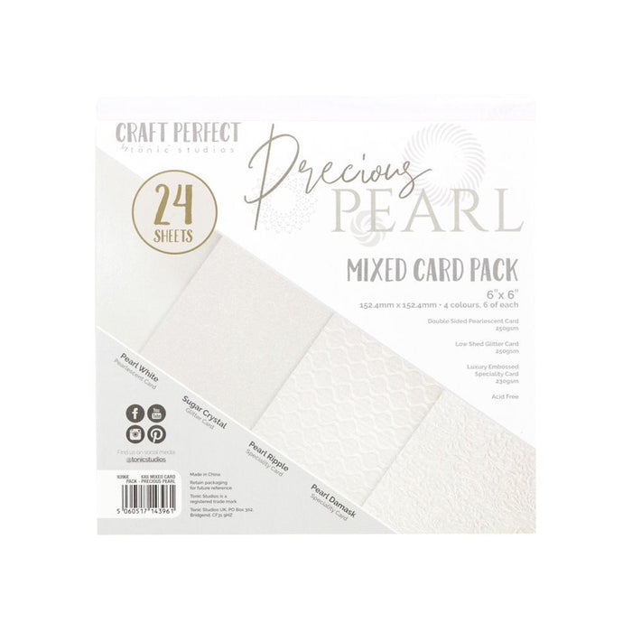 "Craft Perfect - 6x6"" Card Packs - Precious Pearl - 9396e"
