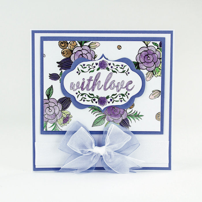 Craft Perfect - Foiled Card Blanks - Delicate Floral Set - Silver - tonicstudios
