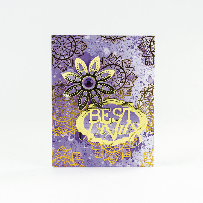 Craft Perfect - Foiled Card Blanks - Intricate Henna Set Gold - tonicstudios