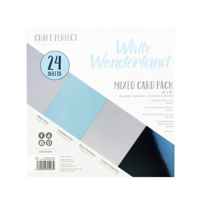 "Craft Perfect - 6""x6"" Card Packs - White Wonderland - 9403e"
