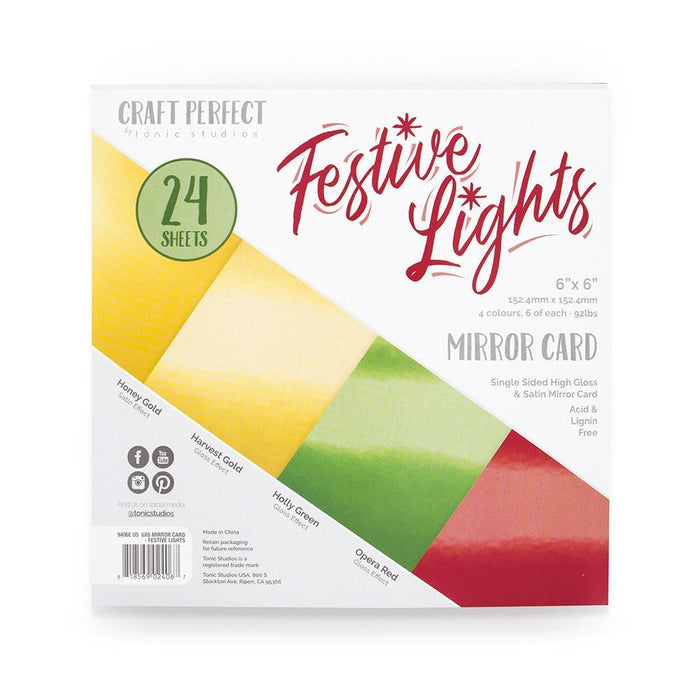 Craft Perfect - 6x6 Card Packs - Festive Lights - tonicstudios