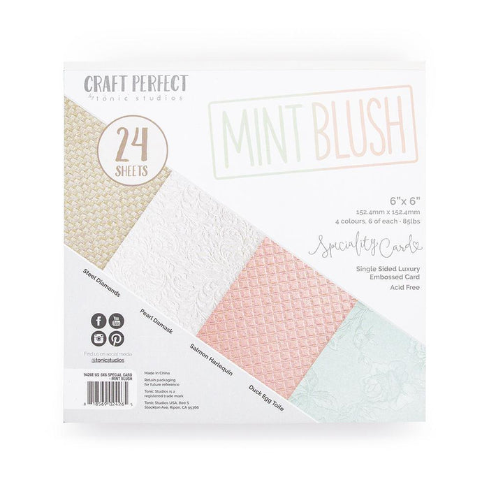Craft Perfect - 6x6 Card Packs - Mint Blush - tonicstudios