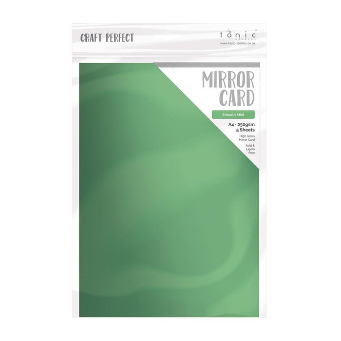 "Craft Perfect - Mirror Card High Gloss - Smooth Mint 8.5"" x 11"" (5/PK) - 9465E - tonicstudios"