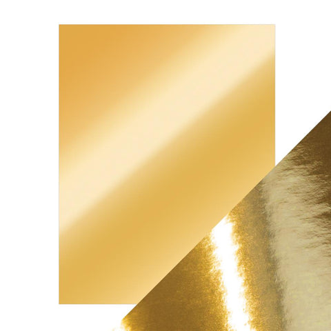 Craft Perfect - A4 Mirror Card High Gloss - Polished Gold - 9451e
