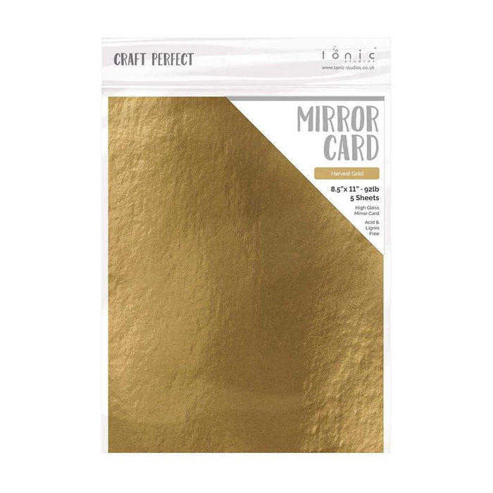 "Craft Perfect - Mirror Card Gloss - Harvest Gold - 8.5"" x 11"" (5/PK) - tonicstudios"