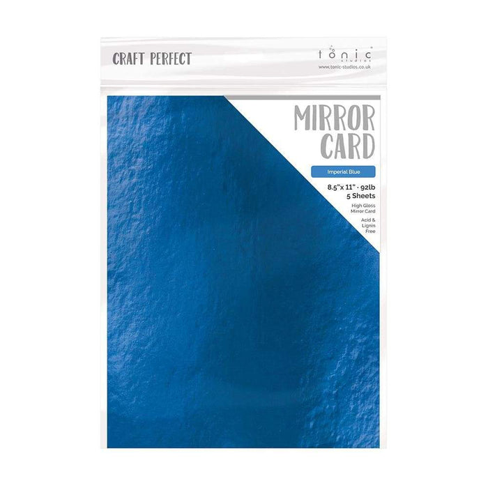 "Craft Perfect - Mirror Card Gloss - Imperial Blue - 8.5"" x 11"" (5/PK) - tonicstudios"
