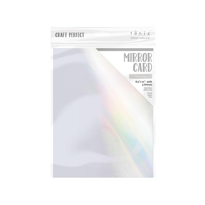 "Craft Perfect - Mirror Card Gloss - Holo Waves - 8.5"" x 11"" (5/PK) - tonicstudios"