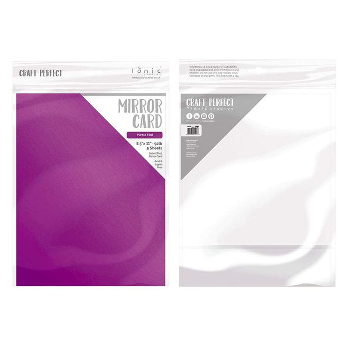 "Craft Perfect - Mirror Card Satin - Purple Mist - 8.5"" x 11"" (5/PK) - tonicstudios"