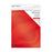 "Craft Perfect - Mirror Card 8.5""x11"" Satin Effect - Scarlet Organza (5/PK) - 9486e"