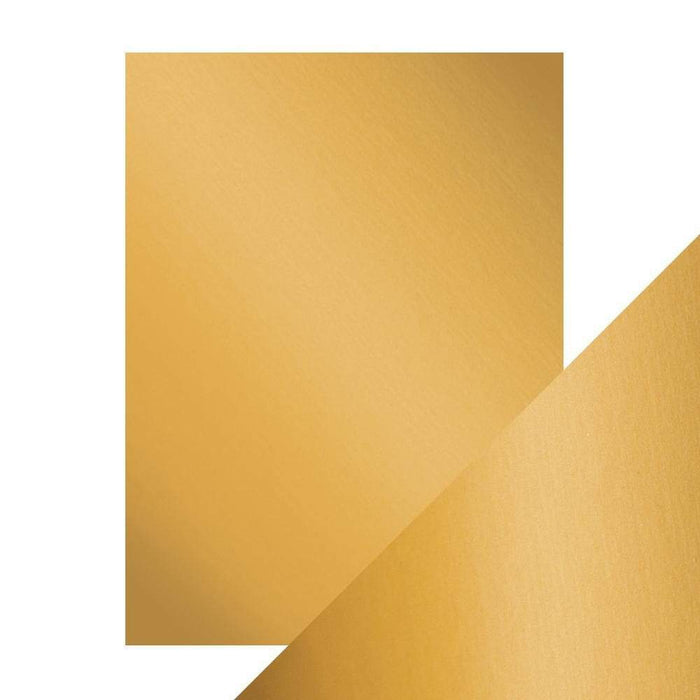 "Craft Perfect - Mirror Card Satin - Honey Gold - 8.5"" x 11"" (5/PK) - tonicstudios"