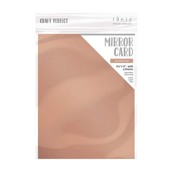 "Craft Perfect - Mirror Card Satin - Burnished Rose - 8.5"" x 11"" (5/PK) - 9488e - tonicstudios"