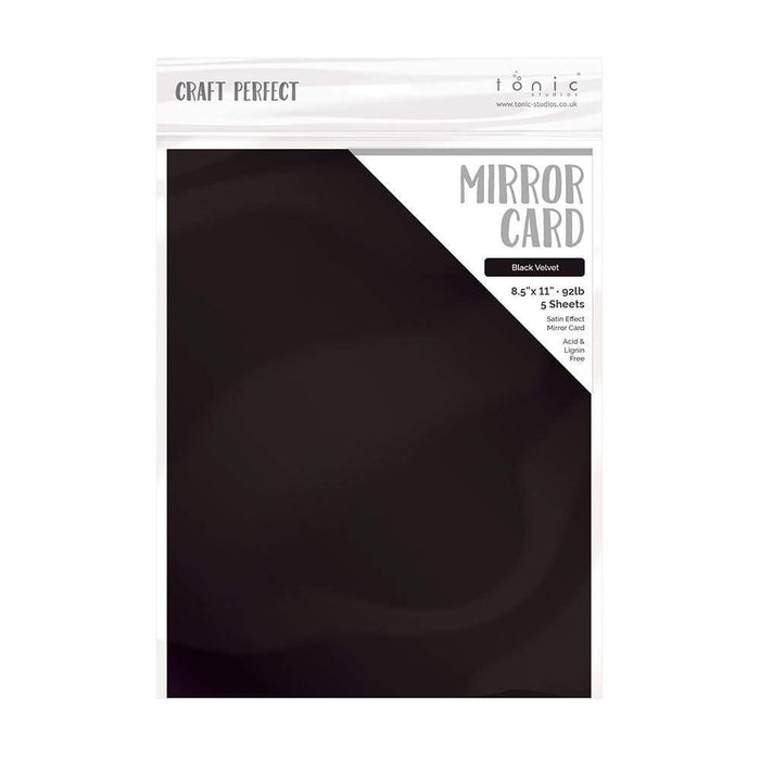 "Craft Perfect - Mirror Card Satin - Black Velvet - 8.5"" x 11"" (5/PK) - tonicstudios"
