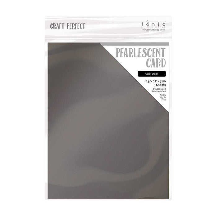 "Craft Perfect - Pearlescent Card - Onyx Black - 8.5"" x 11"" (5/PK) - 9528e - tonicstudios"
