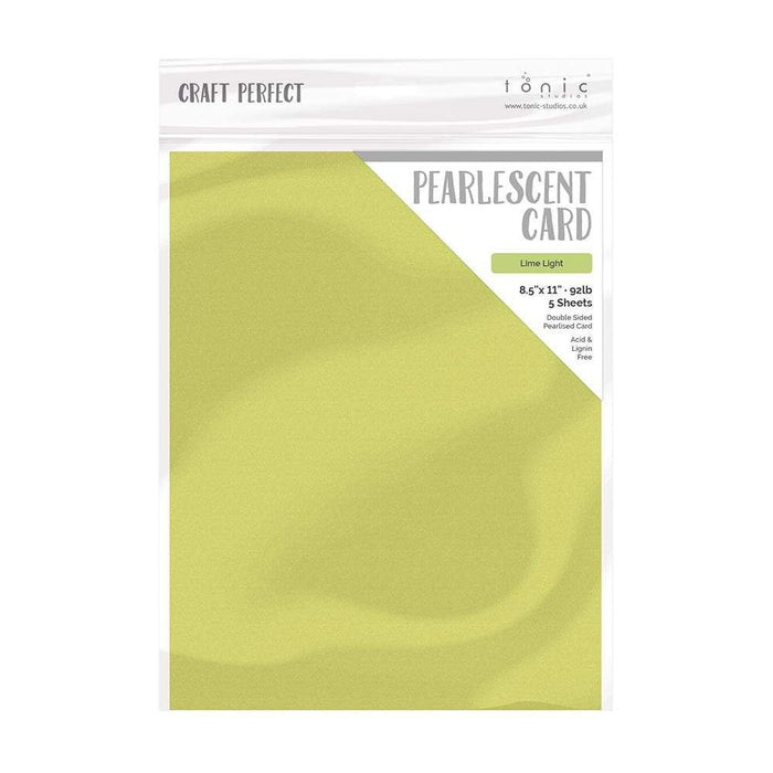 "Craft Perfect - Pearlescent Card - Lime Light - 8.5"" x 11"" (5/PK) - tonicstudios"