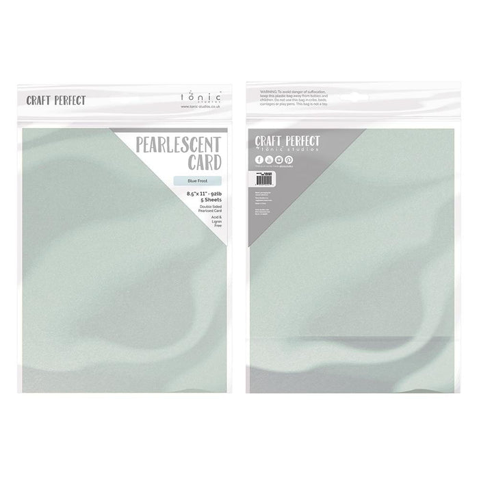 "Craft Perfect - Pearlescent Card - Blue Frost - 8.5"" x 11"" (5/PK) - tonicstudios"