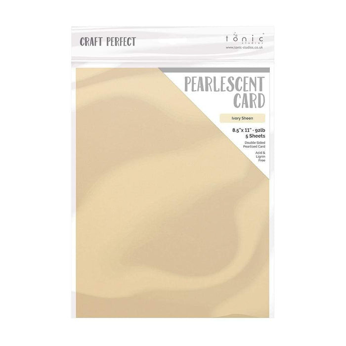 "Craft Perfect - Pearlescent Card - Ivory Sheen - 8.5"" x 11"" (5/PK) - tonicstudios"