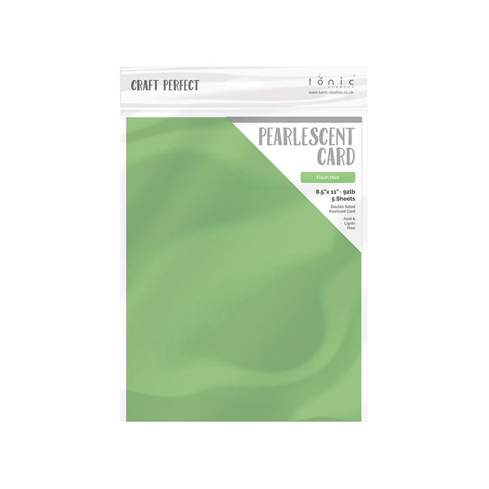 "Craft Perfect - Pearlescent Card - Fresh Mint - 8.5"" x 11"" (5/PK) - tonicstudios"