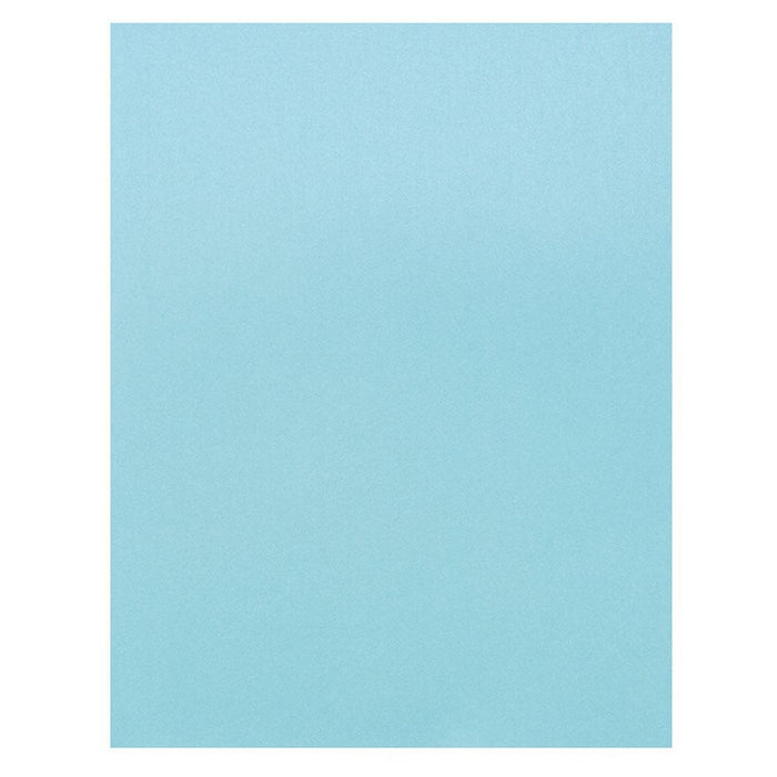 "Craft Perfect - Pearlescent Card 8.5""x11"" - Caribbean Sea (5/PK) - 9547e"