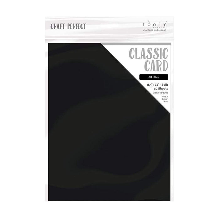 "Craft Perfect - Classic Card - Jet Black - Weave Textured - 8.5"" x 11"" (10/PK) - tonicstudios"