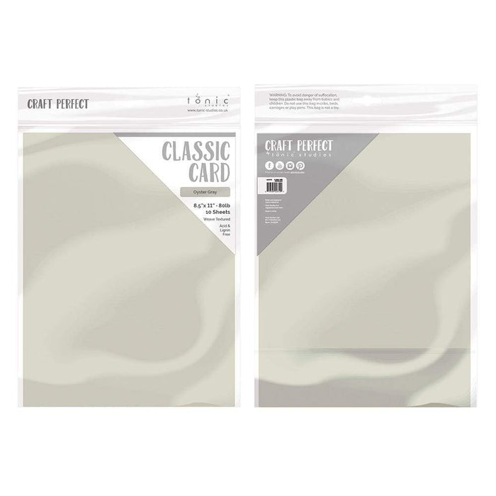 "Craft Perfect - Classic Card - Oyster Grey - Weave Textured - 8.5"" x 11 (10/PK) - tonicstudios"