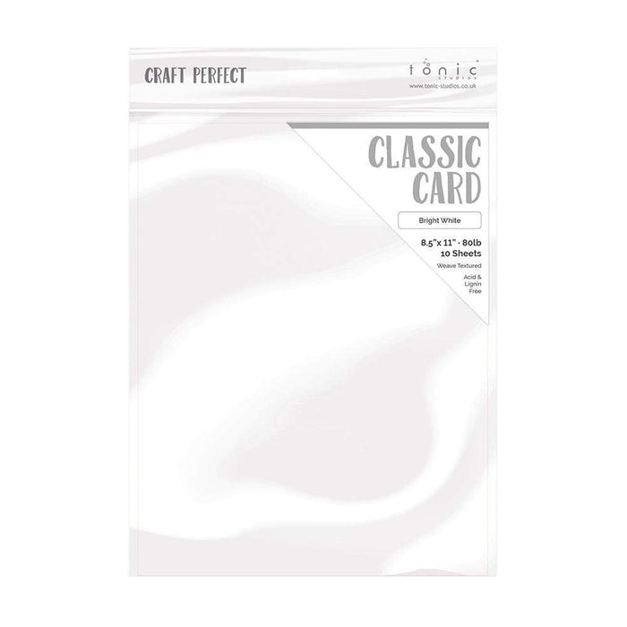 "Craft Perfect - Classic Card - Bright White - Weave Textured - 8.5"" x 11"" (10/PK) - tonicstudios"