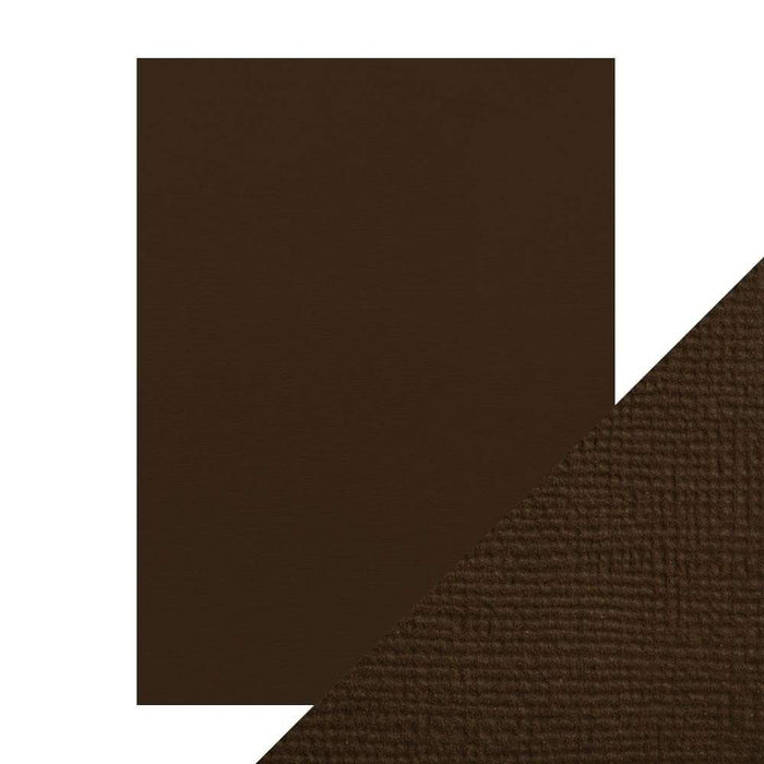 "Craft Perfect - Classic Card - Espresso Brown - Weave Textured - 8.5"" x 11"" (10/PK) - tonicstudios"
