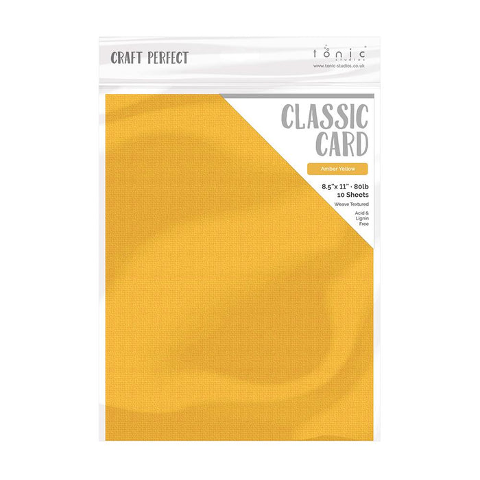 "Craft Perfect - Classic Card - Amber Yellow - Weave Textured - 8.5"" x 11"" (10/PK) - tonicstudios"