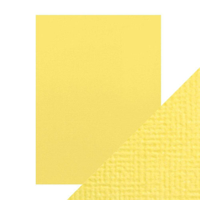 "Craft Perfect - Classic Card - Buttermilk Yellow - Weave Textured - 8.5"" x 11"" (10/PK) - tonicstudios"