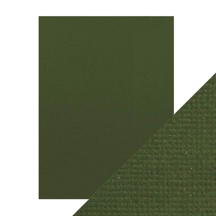 "Craft Perfect - Classic Card - Avocado Green - Weave Textured - 8.5"" x 11"" (10/PK) - tonicstudios"