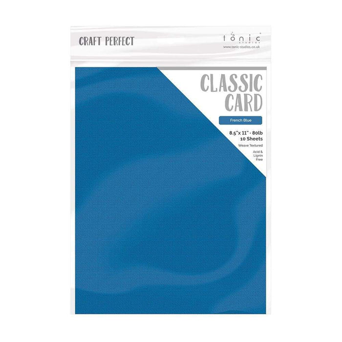 "Craft Perfect - Classic Card - French Blue - Weave Textured - 8.5"" x 11"" - tonicstudios"