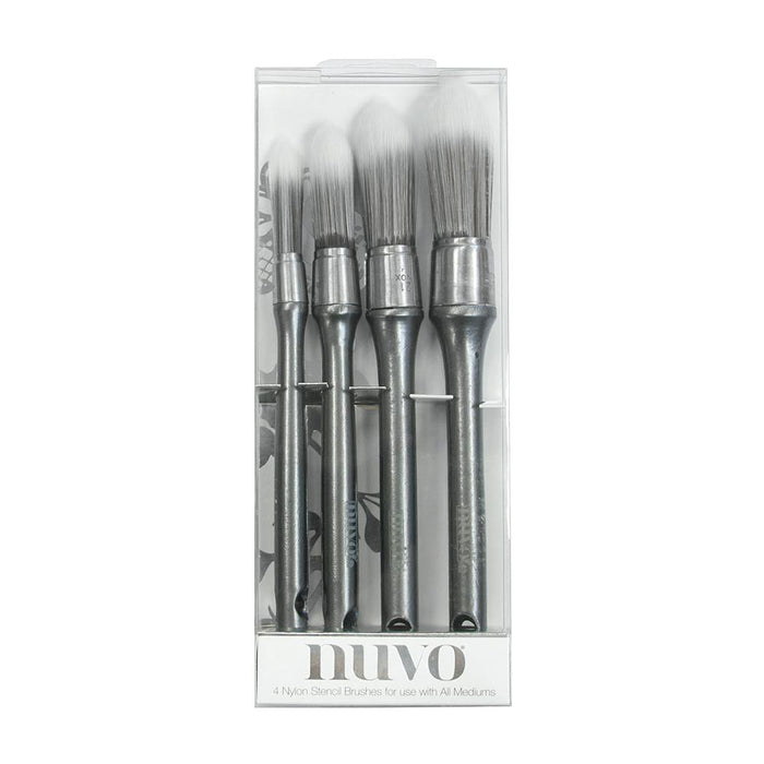 Nuvo - Brushes - Stencil Brushes - 4 PCS - 968n - tonicstudios