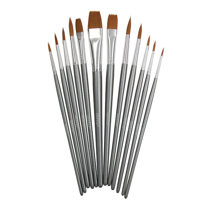 Nuvo - Brushes - Paint Brush Set - 12 PCS - 972n - tonicstudios