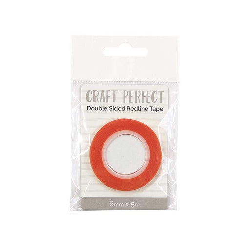 Craft Perfect - Adhesives - Double Sided Redline Tape - 6mm x 5m - 9732e - tonicstudios