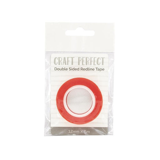 Craft Perfect - Adhesives - Double Sided Redline Tape - 12mm x 5m - 9733e - tonicstudios
