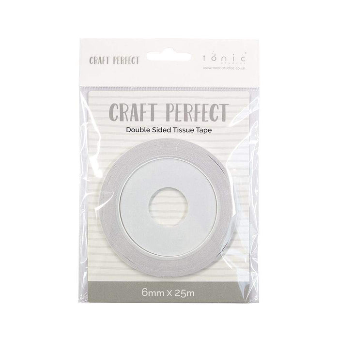Craft Perfect - Adhesives - Double Sided Tissue Tape - 6mm x 25m - tonicstudios