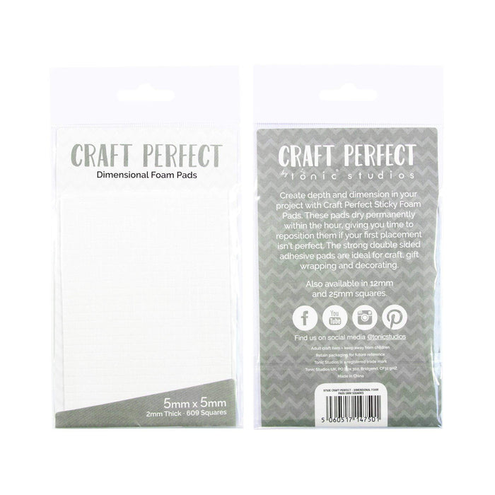 Craft Perfect - Adhesives - Dimensional Foam Pads - 5mm (609 pads)  - 9750e - tonicstudios