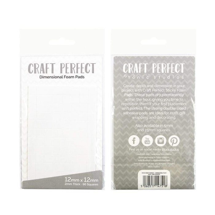 Craft Perfect - Adhesives - Dimensional Foam Pads - 12mm (69 pads)  - 9751e - tonicstudios