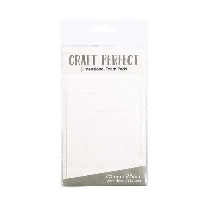 Craft Perfect - Adhesives - Dimensional Foam Pads - 25mm (24 pads) - tonicstudios
