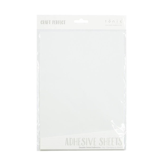 Craft Perfect - Adhesives - Double Sided Adhesive Sheets - A4 (5/PK) - tonicstudios