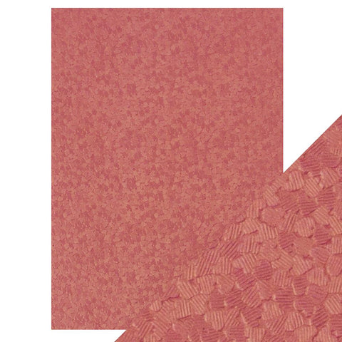 Craft Perfect - A4 Embossed Cotton Paper- Coral Confetti - 9797e