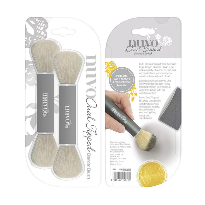 Nuvo - Tools - Dual Ended Blender Brush - 979n - tonicstudios