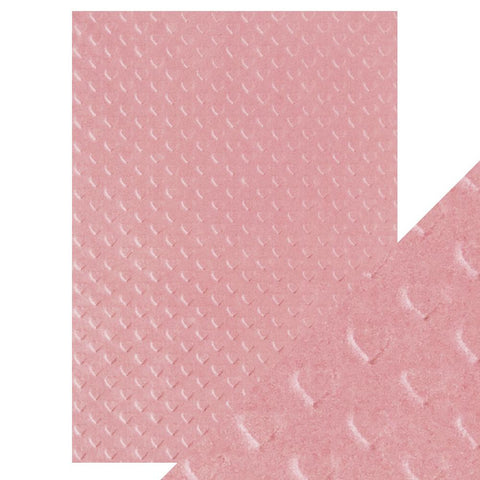 Craft Perfect - A4 Embossed Cotton Paper - Blush Heartbeat - 9800e