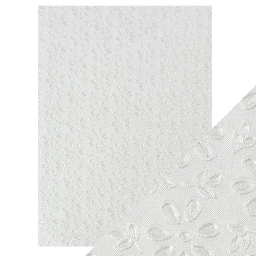 Craft Perfect - Hand Crafted Cotton Paper  - English Lace - A4(5/PK) - 9801e - tonicstudios