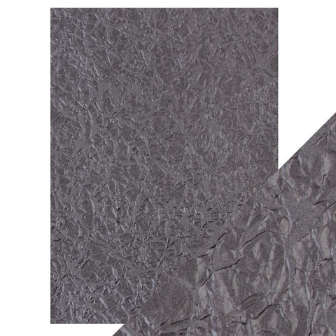Craft Perfect - A4 Embossed Cotton Paper - Crushed Metal - 9804e