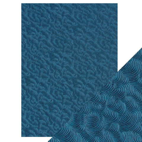 Craft Perfect - A4 Embossed Cotton Paper - Deep Sea Dive - 9806e