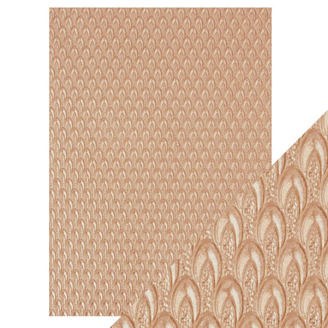 Craft Perfect - A4 Embossed Cotton Paper - Champagne Fountain - 9808e