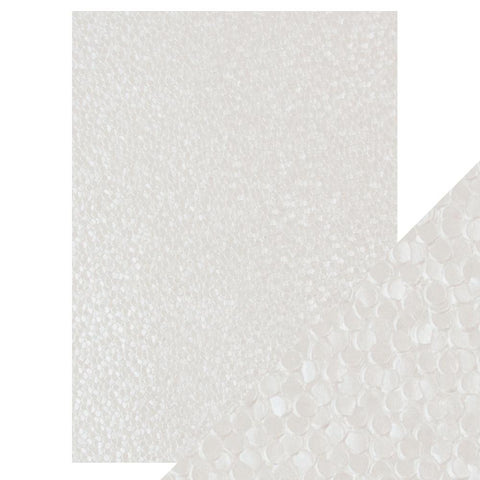 Craft Perfect - A4 Embossed Cotton Paper - Freshwater Pearls - 9809e