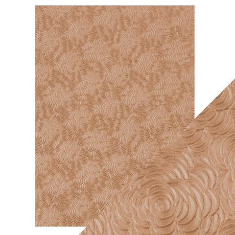 Craft Perfect - A4 Hand Crafted Embossed Cotton Paper - Warm Dahlia - 9812e