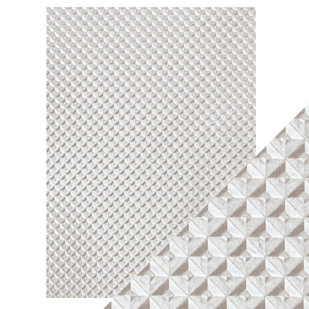 Craft Perfect Silver Chequer - Hand Crafted Embossed Cotton Paper ...