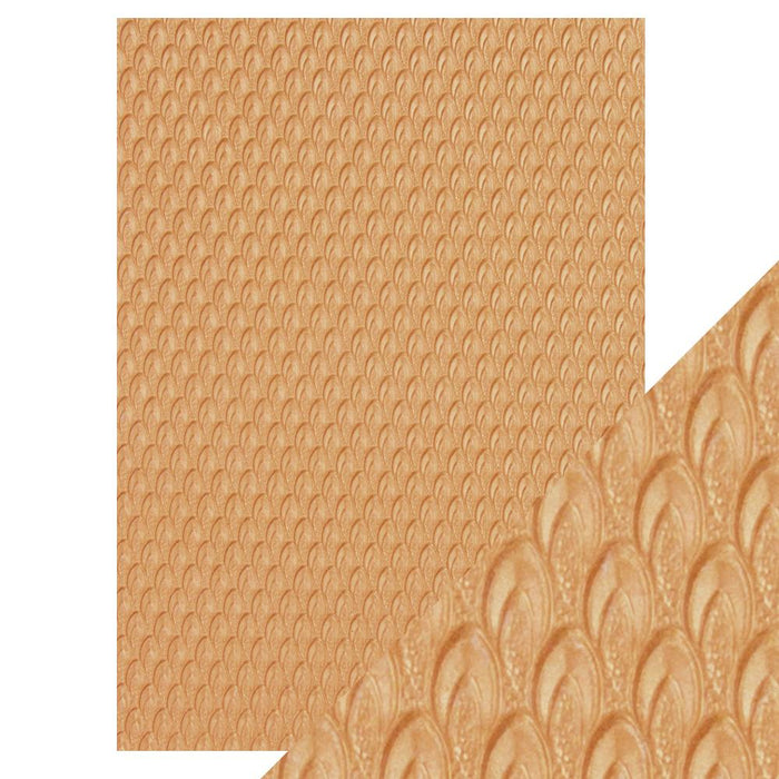 Craft Perfect - Hand Crafted Cotton Paper - Golden Scales A4 - A4(5/PK) - 9816E - tonicstudios